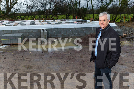 Tony Walsh standing at the site of the houses in Castleisland been build for his employees
