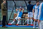 ZEIST-   teleurstelling bij Hurley. links Martijn Wetzels (Hurley) met Hjalmar Koedijker (Hurley)  .promotieklasse hockey heren, Schaerweijde-Hurley (4-0)  COPYRIGHT KOEN SUYK
