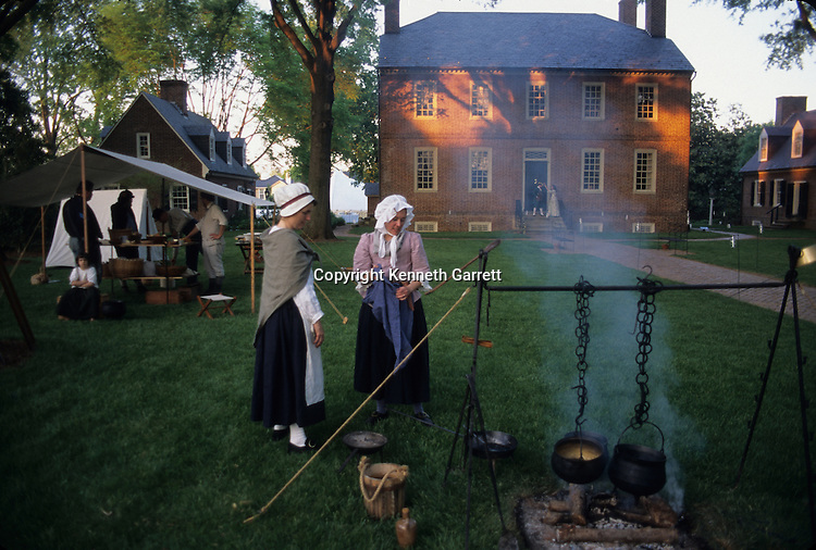 18th Century reenactment, Grounds of Kenmore  Mansion, Fredericksburg, VA