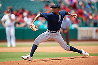 Mobile BayBears relief pitcher Adrian Almeida (37) during a Southern League game against the Montgomery Biscuits on May 2, 2019 at Riverwalk Stadium in Montgomery, Alabama.  Mobile defeated Montgomery 3-1.  (Mike Janes/Four Seam Images)