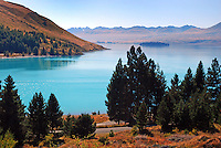 Lake Tekapo, South Island, New Zealand, 201004085179..Copyright Image from Victor Patterson, 54 Dorchester Park, Belfast, United Kingdom, UK. Tel: +44 28 90661296. Email: victorpatterson@me.com; Back-up: victorpatterson@gmail.com..For my Terms and Conditions of Use go to www.victorpatterson.com and click on the appropriate tab.