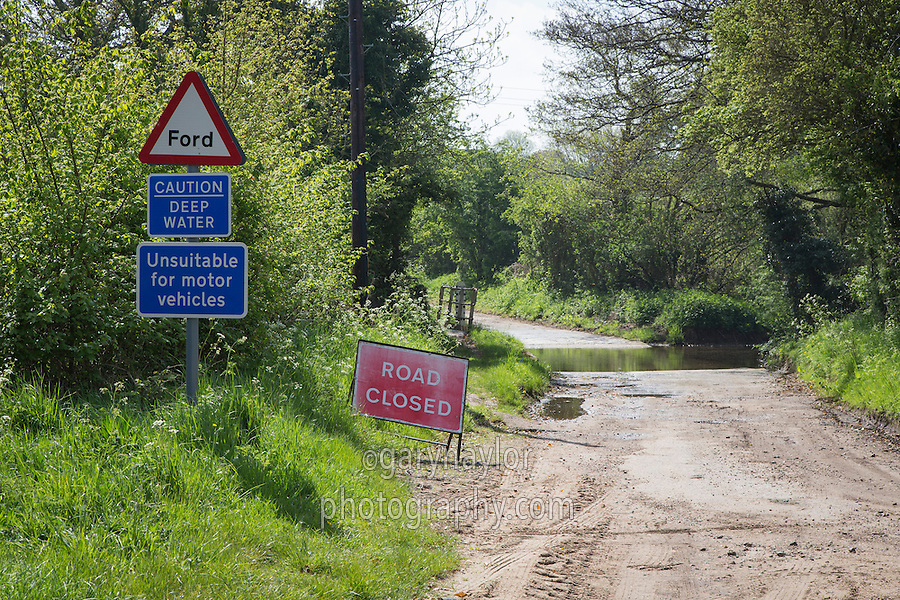 Ford, road closed - Norfolk