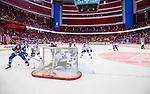 Stockholm 2014-05-03 Ishockey Oddset Hockey Games  Sverige - Finland :  <br /> Vy &auml;ven Globen Arena medan Sverige har en m&aring;lchans framf&ouml;r Finlands m&aring;lvakt Pekka Rinne <br /> (Foto: Kenta J&ouml;nsson) Nyckelord:  Oddset Hockey Games Sverige Swe Tre Kronor Finland Fin Globen Ericsson Globe Arena inomhus interi&ouml;r interior