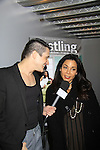 """We Love Soaps Damon L. Jacobs interviews Daphne Rubin-Vega at A private screening of Sebastian La Cause's web series """"Hustling"""" Season Two - 'cause everybody got a hustle -  was held on November 19, 2012 at TriBeca's Cinemas, New York City, New York. Days of our Lives """"Silvio"""", One Live To Live and All My Children's Sebastian is the creator of Hustling along with being the writer, director and star (Photo by Sue Coflin/Max Photos)"""