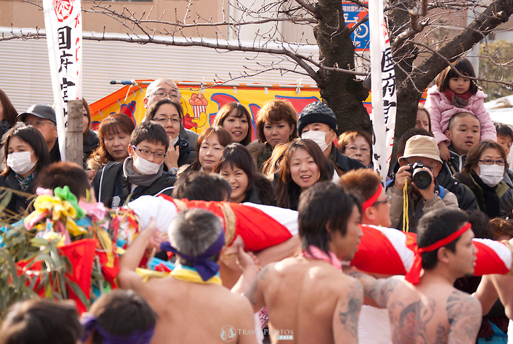 The Naked Man Festival (hadaka matsuri) is an annual event that began in the year 767ad, in the Nara Period. The event is held to removed bad luck and bestow good luck on the people. In the past, this event has attracted 180,000 spectators and 12,000 (naked) male participants.