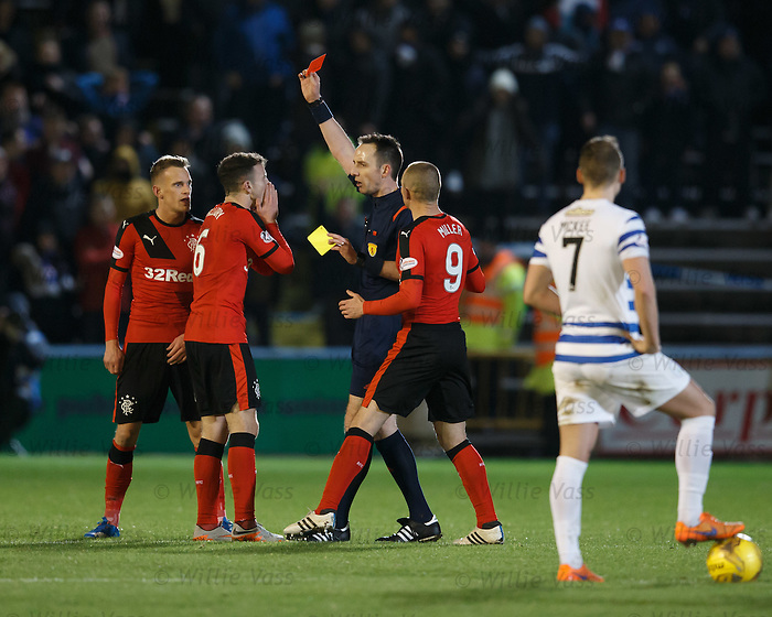 Andy Halliday sent off by ref Barry Cook