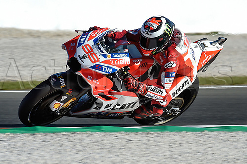 11th November 2017, Gran Premio Motul de la Comunitat Valenciana, Valencia, Spain; MotoGP of Valencia, Saturday qualifying; Jorge Lorenzo (Ducati) during the qualifying sessions
