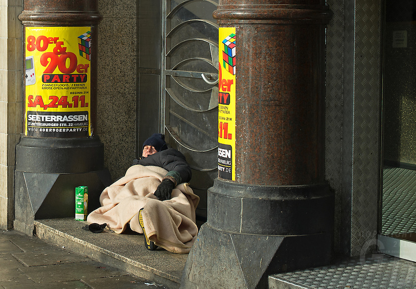 Homeless in Winter, Germany