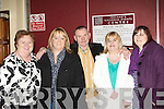 Enjoying the entertainment at the DJ Curtin/Brendan Bowyer 50th anniversary concert in the INEC on Sunday night was l-r: Breda Walsh, Ann Marie Healy, Paddy Batt Moriarty, Noreen Lynch and Teresa Griffin Tralee.