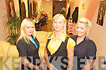 Hair stylists Anna Wilk and  Valerie Lyne with proprietor Siva Sikorska at the Killarney Beauty Salon on High Street.