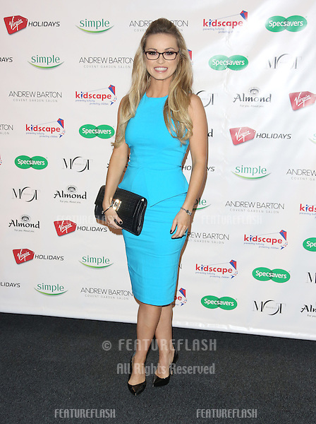 Ola Jordan arriving for the Specsavers Spectacle Wearer of the Year 2012 held at Battersea Power Station, London. 30/10/2012 Picture by: Henry Harris / Featureflash