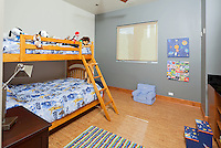 Stock photo of bedroom with bunkbeds