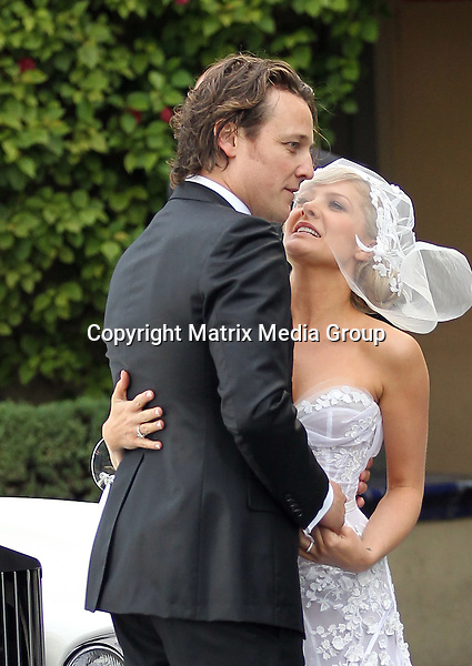 4/12/2011 Melbourne, Australia<br /> <br /> NON EXCLUSIVE.<br /> <br /> The Wedding of Natalie Bassingthwaite to Cameron McGlinchey.<br /> <br /> Nat Bass leaves home with her mother and father in a J'aton dress and travels by a classic Rolls Royce to The Stokehouse St Kilda Beach where she married Cameron McGlinchey.