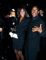 Whitney Houston & Daughter Bobbi Kristina & Husband Bobby Brown At His Birthday Party Tavern On The Green NYC 1994 By Jonathan Green