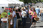 Patrons shop at the 3rd & Curry St. Farmers Market in downtown Carson City, Nev. on Sept. 11, 2010..Photo by Cathleen Allison