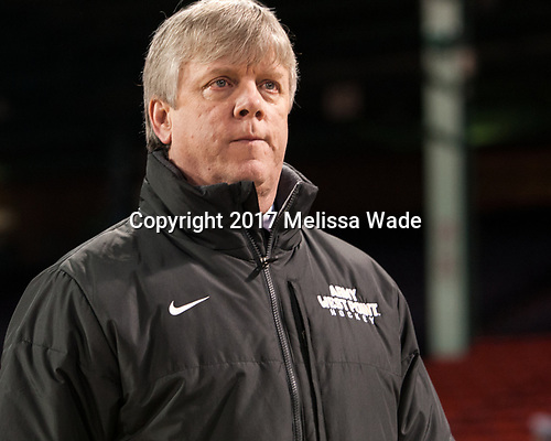 Brian Riley (Army - Head Coach) - The Bentley University Falcons defeated the Army West Point Black Knights 3-1 (EN) on Thursday, January 5, 2017, at Fenway Park in Boston, Massachusetts.The Bentley University Falcons defeated the Army West Point Black Knights 3-1 (EN) on Thursday, January 5, 2017, at Fenway Park in Boston, Massachusetts.