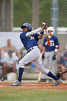 Michael Braswell (18) during the WWBA World Championship at the Roger Dean Complex on October 11, 2019 in Jupiter, Florida.  Michael Braswell attends Campbell High School in Mableton, GA and is committed to South Carolina.  (Mike Janes/Four Seam Images)
