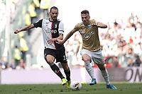 Leonardo Bonucci of Juventus , Gabriele Moncini of SPAL <br /> Torino 28/09/2019 Allianz Stadium <br /> Football Serie A 2019/2020 <br /> Juventus FC - SPAL <br /> Photo OnePlusNine / Insidefoto