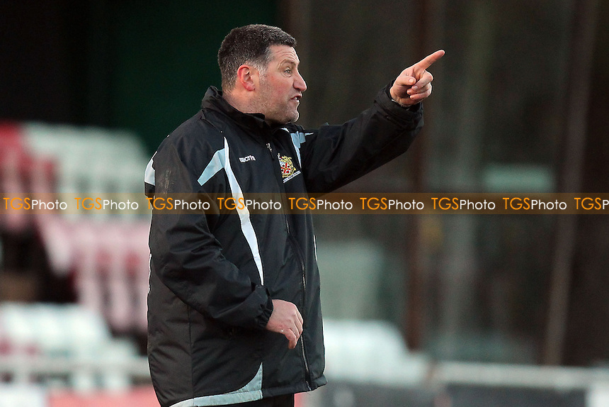 AFC Hornchurch manager Jim McFarlane - AFC Hornchurch vs Leiston - Ryman League Premier Division Football at The Stadium, Bridge Avenue - 15/02/14 - MANDATORY CREDIT: Gavin Ellis/TGSPHOTO - Self billing applies where appropriate - 0845 094 6026 - contact@tgsphoto.co.uk - NO UNPAID USE