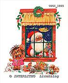 GIORDANO, CHRISTMAS SANTA, SNOWMAN, WEIHNACHTSMÄNNER, SCHNEEMÄNNER, PAPÁ NOEL, MUÑECOS DE NIEVE, paintings+++++,USGI1805,#X#