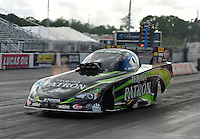 Jan. 16, 2013; Jupiter, FL, USA: NHRA funny car driver Alexis DeJoria during testing at the PRO Winter Warmup at Palm Beach International Raceway.  Mandatory Credit: Mark J. Rebilas-