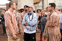 Papillon (2017)<br /> Charlie Hunnam, Michael Noer (Director), Rami Malek<br /> *Filmstill - Editorial Use Only*<br /> CAP/FB<br /> Image supplied by Capital Pictures