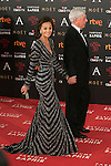 Isabel Preysler and Mario Vargas Llosa attend 30th Goya Awards red carpet in Madrid, Spain. February 06, 2016. (ALTERPHOTOS/Victor Blanco)
