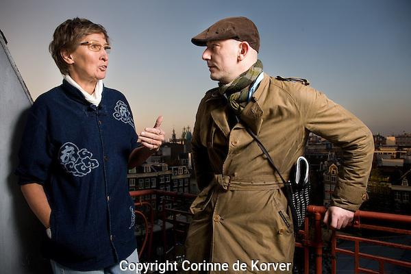Amsterdam, 20 november 2010 International Documentary Filmfestival Amsterdam.<br /> Pirjo Honkasalo and Thomas Napper.<br /> Photo by Corinne de Korver