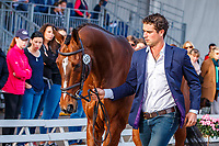 NZL-James Avery presents Mr Sneezy during the Final Horse Inspection for the CCI5*-L. Les 5 Etoiles de Pau. Pyrenees Atlantiques. France. Sunday 27 October. Copyright Photo: Libby Law Photography