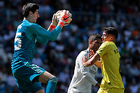 Real Madrid's Thibaut Courtois and Villarreal CF's P. Fornals during La Liga match between Real Madrid and Villarreal CF at Santiago Bernabeu Stadium in Madrid, Spain. May 05, 2019. (ALTERPHOTOS/A. Perez Meca)<br /> Liga Campionato Spagna 2018/2019<br /> Foto Alterphotos / Insidefoto <br /> ITALY ONLY