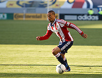 CARSON, CA - April 1, 2012: Ryan Smith (22) of Chivas during the Chivas USA vs Sporting KC match at the Home Depot Center in Carson, California. Final score Sporting KC 1, Chivas USA 0.
