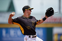 Bradenton Marauders third baseman Hunter Owen (13) makes a throw during the first game of a doubleheader against the Jupiter Hammerheads on May 27, 2018 at LECOM Park in Bradenton, Florida.  Bradenton defeated Jupiter 13-5.  (Mike Janes/Four Seam Images)