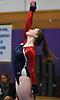 Erin Agoglia of South Side concludes her floor routine during a Nassau County varsity gymnastics meet against Massapequa at McKenna Elementary School in Massapequa Park on Monday, Jan. 29, 2018.
