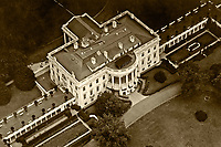 historical aerial photograph White House, Washington, DC