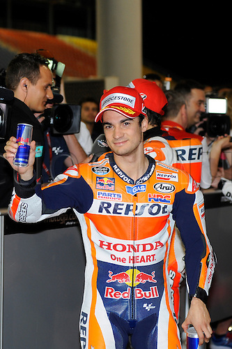 28.03.2015. Losail, Doha. MotoGP. Qatar Grand Prix Qualifying. Dani Pedrosa (Repsol Honda) during qualifying sessions