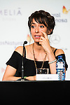 """Spanish actress Oona Chaplin during the press conference of the presentation of the film """"Proyecto Lazaro"""" at the Festival de Cine Fantastico de Sitges in Barcelona. October 07, Spain. 2016. (ALTERPHOTOS/BorjaB.Hojas)"""