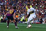 53e Trofeu Joan Gamper.<br /> FC Barcelona vs Club Atletico Boca Juniors: 3-0.<br /> Sergi Roberto vs Lucas Olaza.