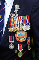 Medals of a Veteran soldier of the D-Day Landings worn for a parade of Veterans at the start of the 60th Anniversary Commemorations.