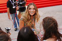 Fiammetta Cicogna signs autographs on the red carpet to present the movie 'Spotlight' during the 72nd Venice Film Festival at the Palazzo Del Cinema, in Venice, September 3, 2015. <br /> UPDATE IMAGES PRESS/Stephen Richie