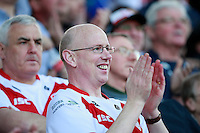 PICTURE BY CHRIS MANGNALL /SWPIX.COM...Rugby League - Super League  - St Helens Saints v Leeds Rhinos  - Langtree Park, St Helens, England  - 25/03/12... St Helens Fan, supporter