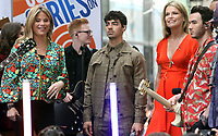 June 07, 2019  Nick Jonas, Jenna Bush, Joe Jonas, Savannah Guthrie, Kevin Jonas, Al Roker of Jonas Brothers at Today Show Concert Series to perform,  talk about new album Happiness Begins and tour in New York June 07, 2019   <br /> CAP/MPI/RW<br /> ©RW/MPI/Capital Pictures