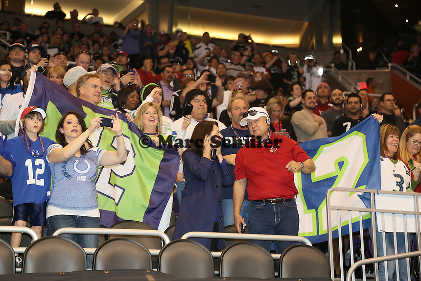 Fans der Seatte Seahawks - Super Bowl XLIX Media Day, US Airways Center, Phoenix
