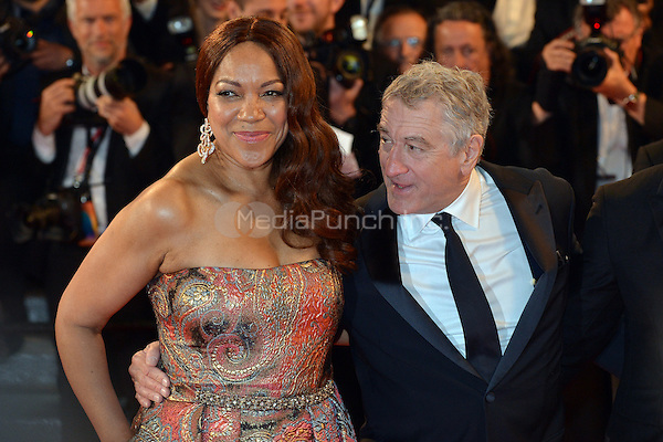 Robert De Niro and his wife Grace Hightower at the 'Hands of Stone' screening during The 69th Annual Cannes Film Festival on May 16, 2016 in Cannes, France.<br /> CAP/LAF<br /> &copy;Lafitte/Capital Pictures /MediaPunch ***NORTH AND SOUTH AMERICA ONLY***