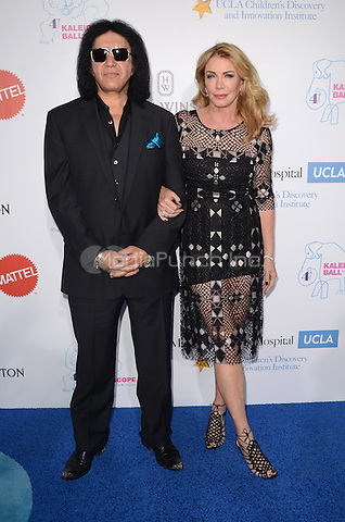 CULVER CITY, CA - MAY 21: Gene Simmons and Shannon Tweed at the 2016 Kaleidoscope Ball at 3Labs in Culver City, California on May 21, 2016. Credit: David Edwards/MediaPunch