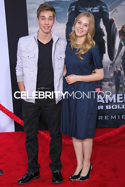 "HOLLYWOOD, LOS ANGELES, CA, USA - MARCH 13: Austin North, Lauren North at the World Premiere Of Marvel's ""Captain America: The Winter Soldier"" held at the El Capitan Theatre on March 13, 2014 in Hollywood, Los Angeles, California, United States. (Photo by Xavier Collin/Celebrity Monitor)"