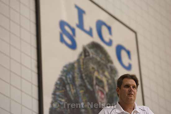 Coach Norm Parrish is in his 19th season at SLCC. He's won more than 400 games and a national championship., Tuesday, December 22, 2009.