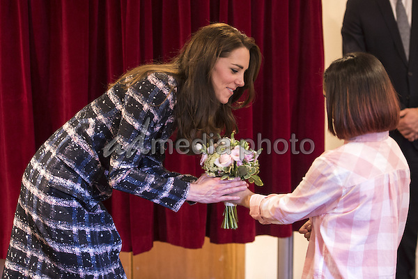 14 October 2016 - Manchester, United Kingdom - Princess Kate Duchess of Cambridge visits Francis House during a visit to the hospice in Manchester. Francis House provides respite care, home care, sibling support, activity weekends for bereaved siblings, end of life care and bereavement support. Photo Credit: Alpha Press/AdMedia