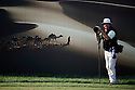 Phil Inglis tour photographer poses for the camera on the 15th tee during the third round of the Abu Dhabi HSBC Golf Championship played at Abu Dhabi Golf Club on 28th January 2012 in Abu Dhabi, UAE. (Picture Credit / Phil Inglis)