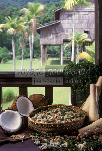 """Asie/Malaisie/Bornéo: Hivana - Poisson cru avec épices, condiments et jus de citron vert - Recette de l'hôtel """"Hyatt"""""""