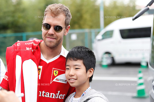 Sebastian Vettel (GER), <br /> OCTOBER 8, 2016 - F1 : Japanese Formula One Grand Prix <br /> at Suzuka Circuit in Suzuka, Japan. (Photo by Sho Tamura/AFLO SPORT) GERMANY OUT